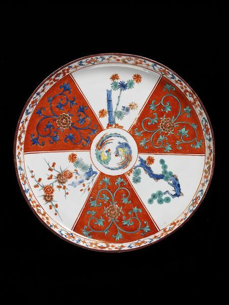 Chelsea Porcelain factory platter, ca. 1755 - Porcelain painted with enamels and gilded