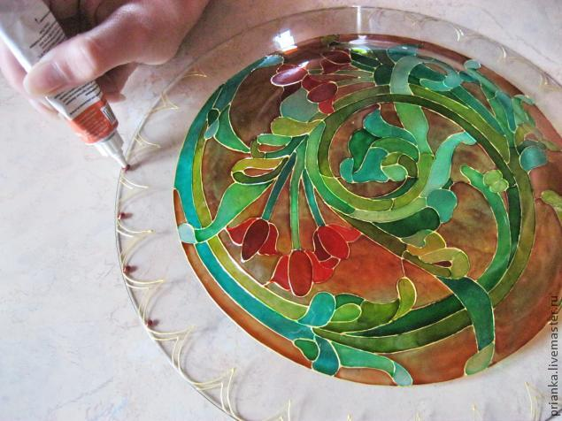 Воплощаем модерн в росписи по стеклу., фото № 19