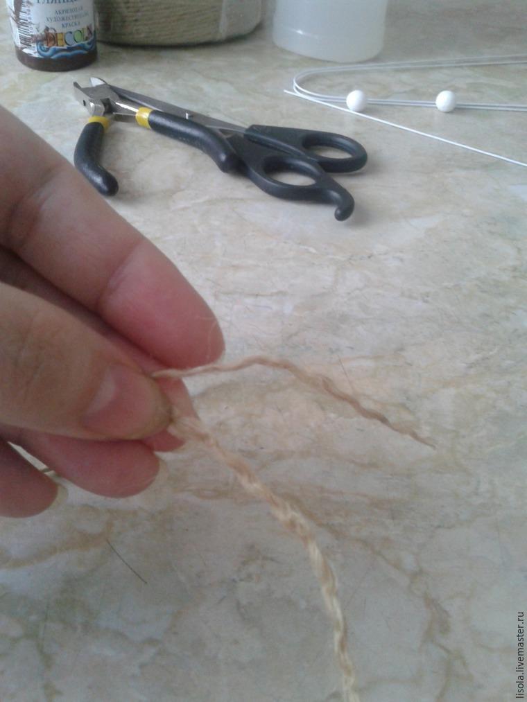 Как сделать одуванчик из джутового шпагата, фото № 2