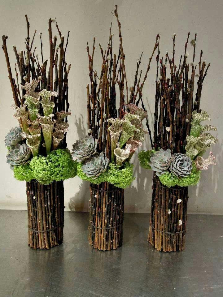 Композиции из веток для вазы