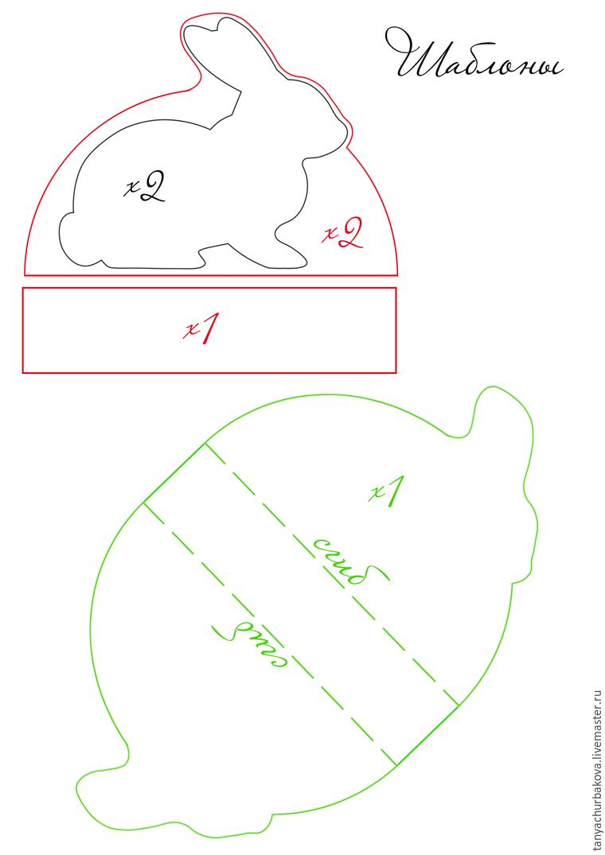 Украшение подушек и сумочки пасхальными зайцами
