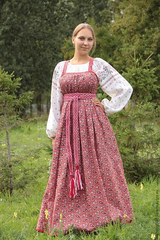 рубашка, славянский, русский костюм, женская рубаха