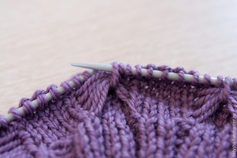 Вяжем шапку с узором «бабочки», фото № 5
