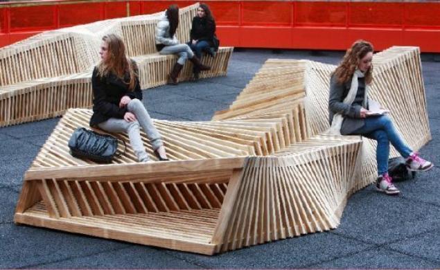 Интересные скамейки