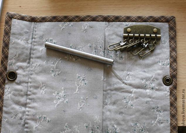 Текстильная ключница мастер класс