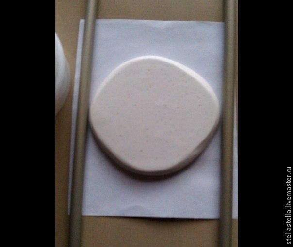 кулон из полимерной глины