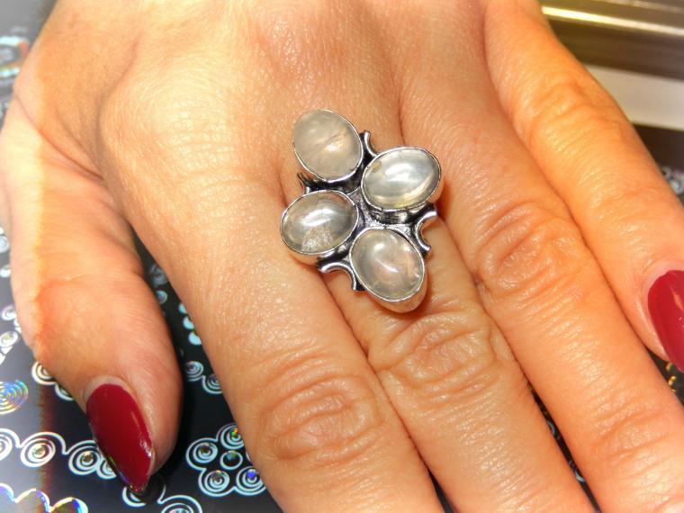серебро, кольцо с камнем