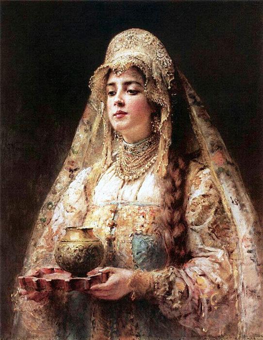 Константин Маковский «Чарка меду»