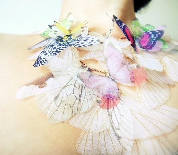 Fluttery Дыхание Жизни Ожерелье-2 Переезд на органза Индивидуальные заказы