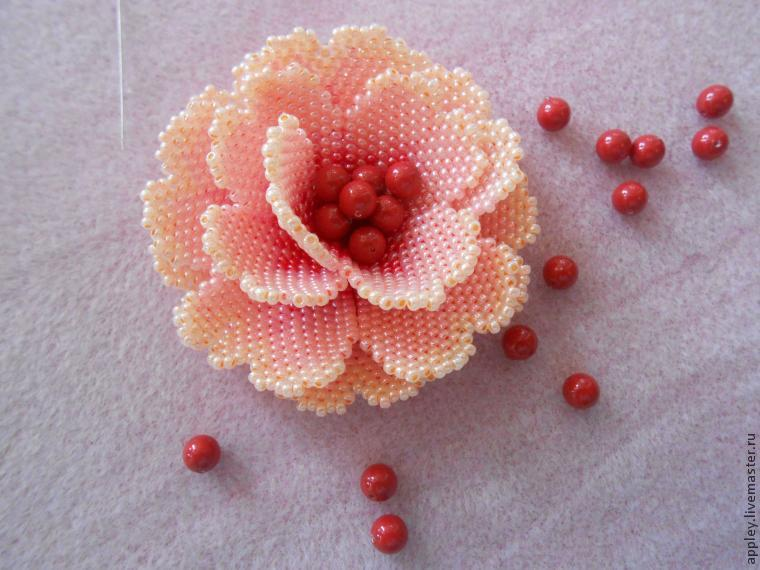 How to Make a Small Flower out of Beads, фото № 47