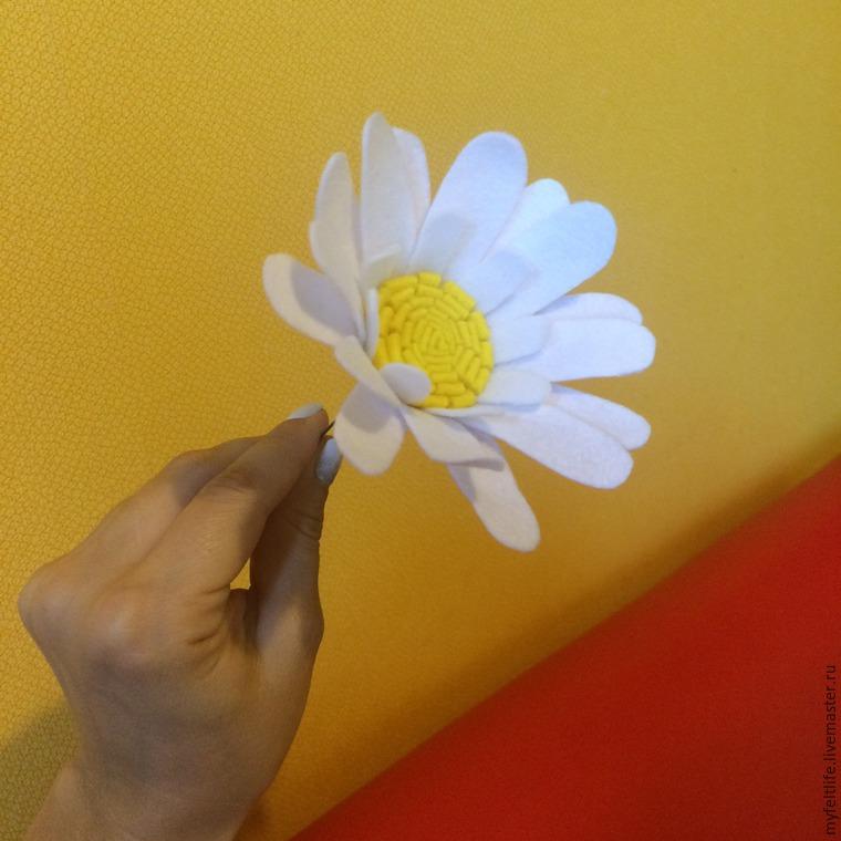Как сделать ромашки из фетра своими руками