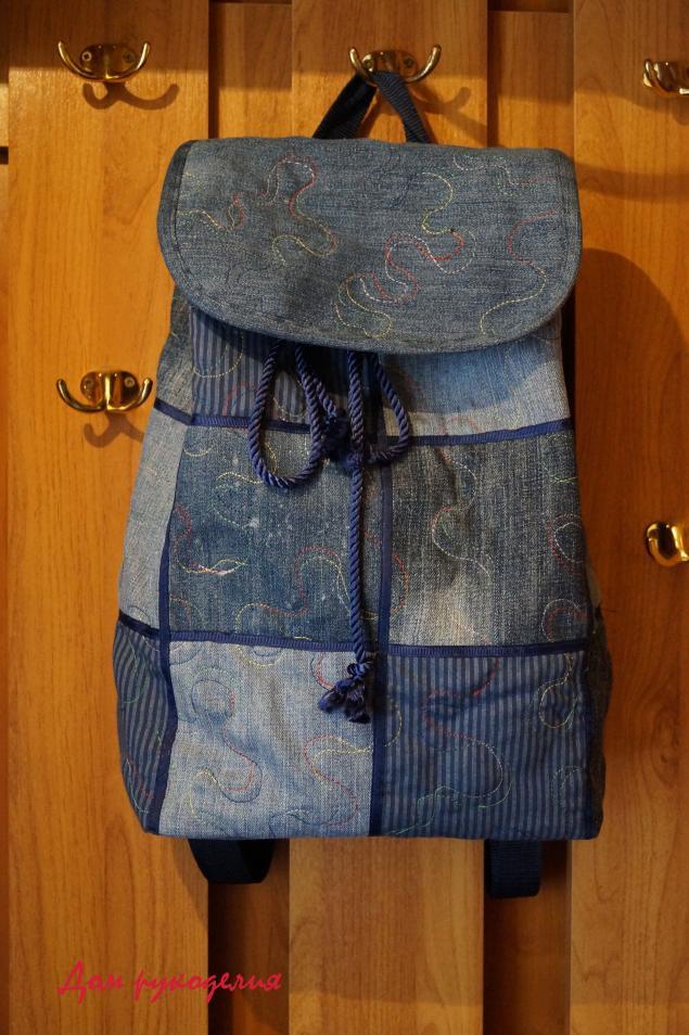 2b424b8e39ab Шьем новый рюкзак из старых джинсов – мастер-класс для начинающих и  профессионалов