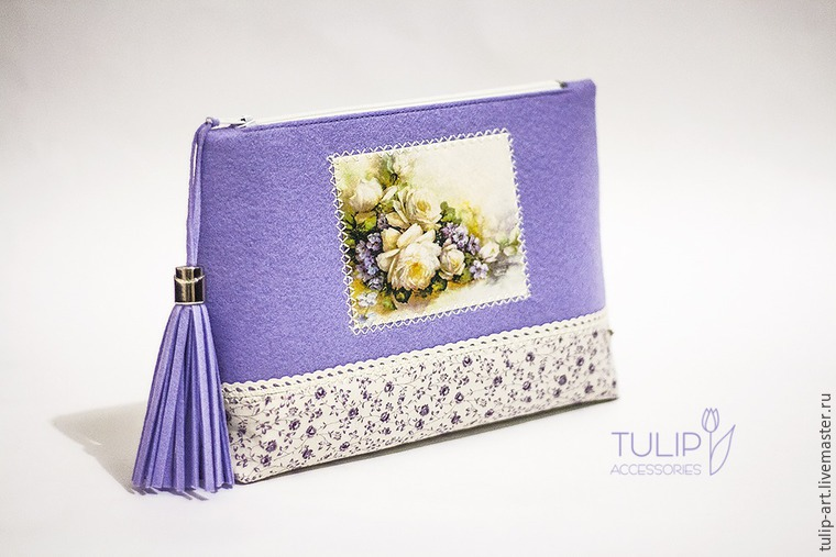 Sewing a Pretty Spring Vanity-Case of Felt and Fabric, фото № 29