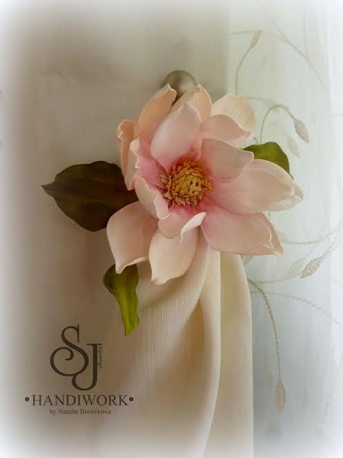 цветы из фома, украшение для волос, мк в москве