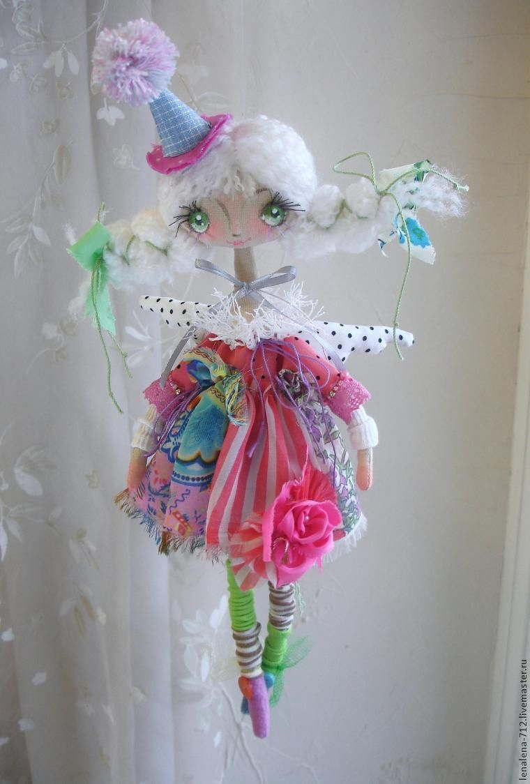 мастер-класс, текстильная кукла, коломбина, кукла в подарок
