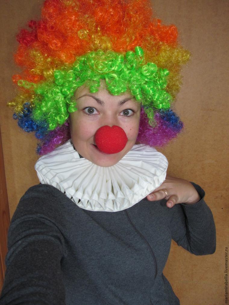 Жабо своими руками для клоуна