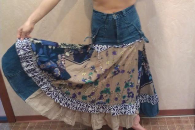 Из старого платья юбку своими руками