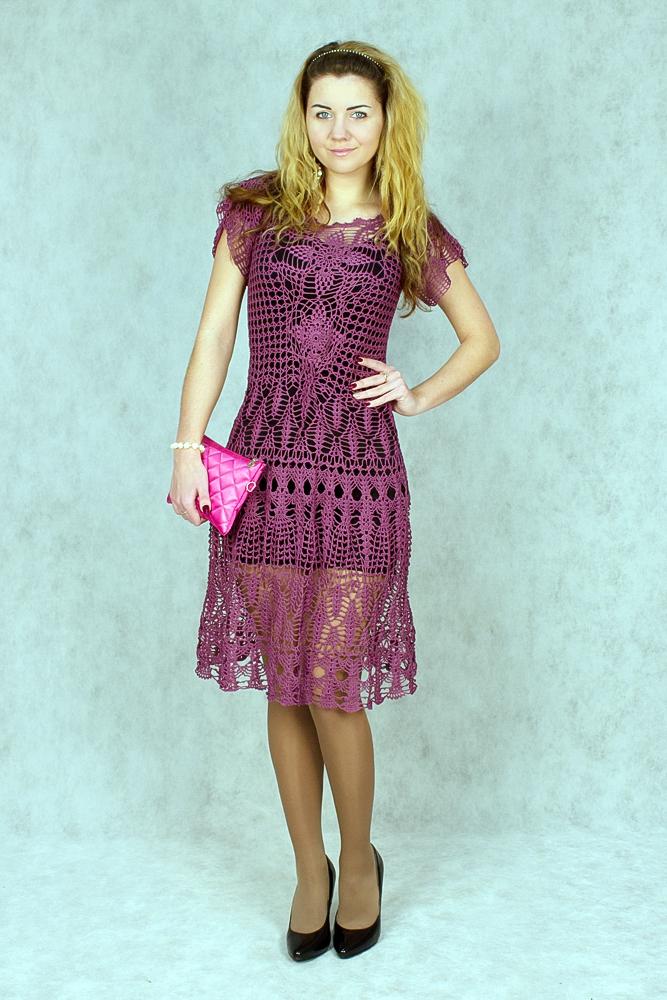 платье, вязаное платье