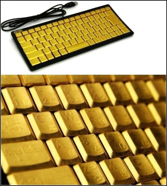 Keyboard Art. Золотая клавиатура