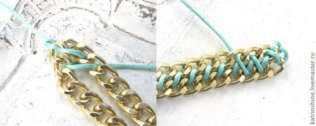 Сделать модный браслет с цепочкой