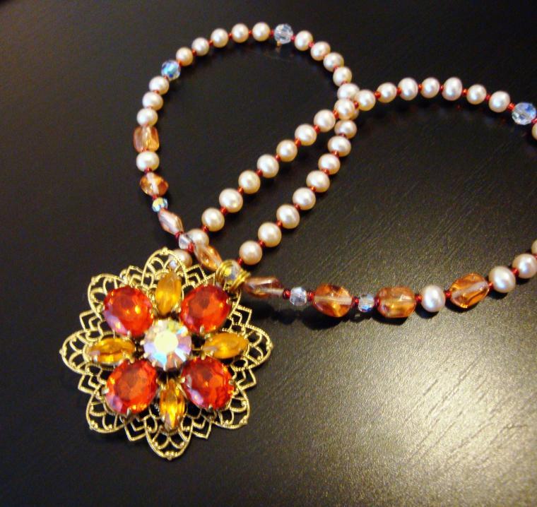 ожерелье, пуговица