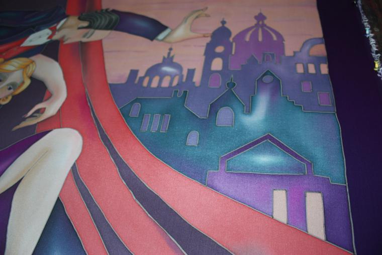 возвращение в париж, ручная роспись