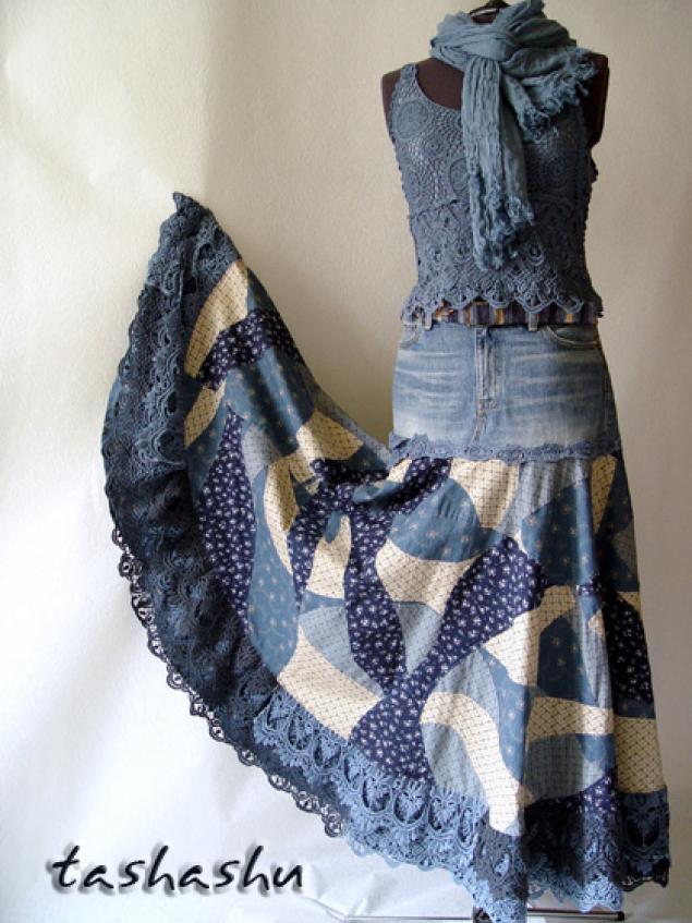 портьеры из джинсы