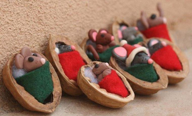 Поделки из скорлупы орехов для детей