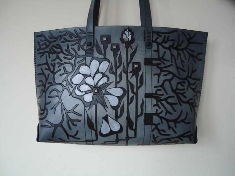 натуральная кожа, сумка с декором