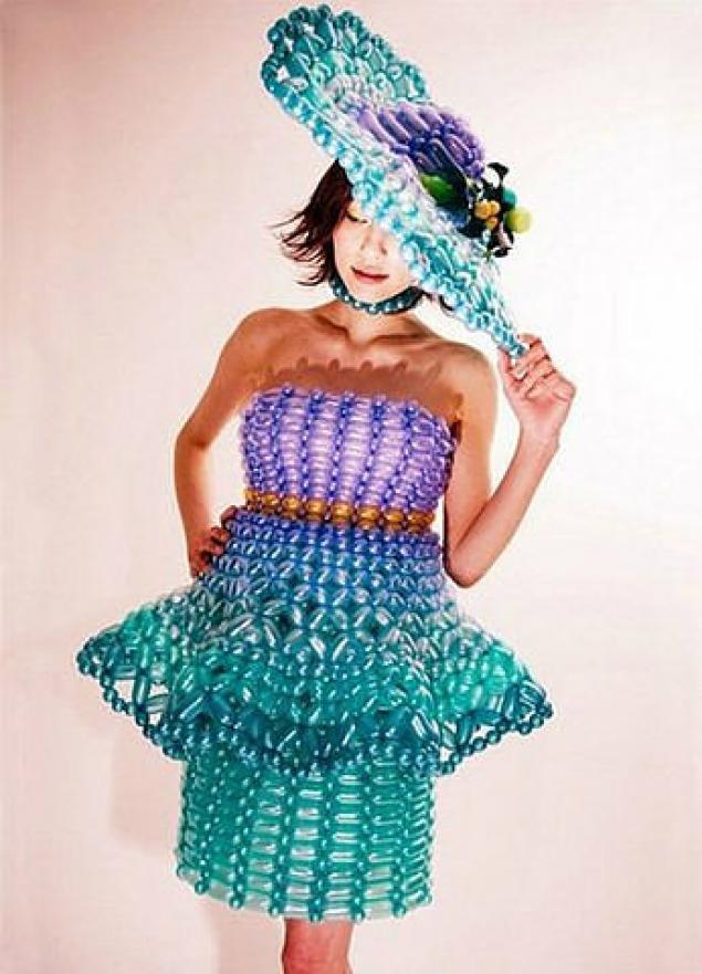 Простые платья из подручных материалов