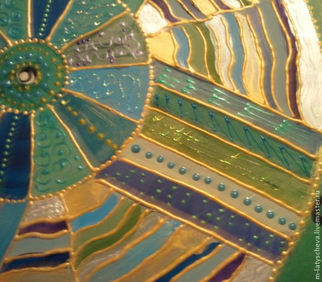 Яркие настенные часы (роспись), фото № 17