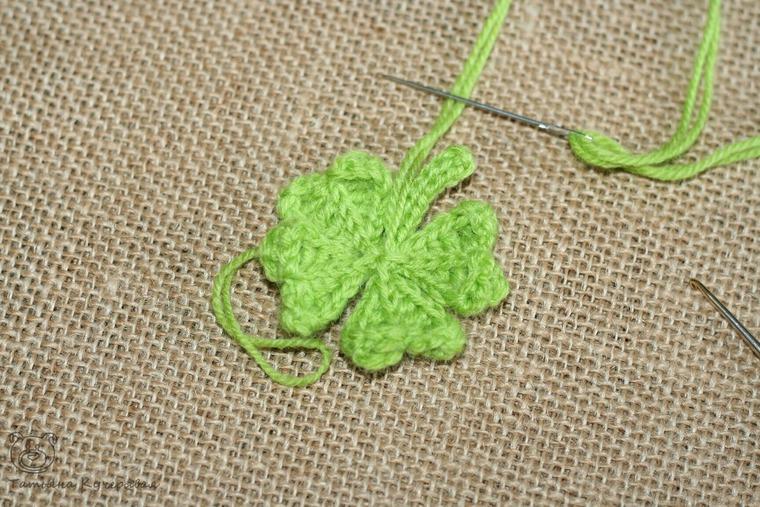 Crochetting a Four Leaf Clover, фото № 15