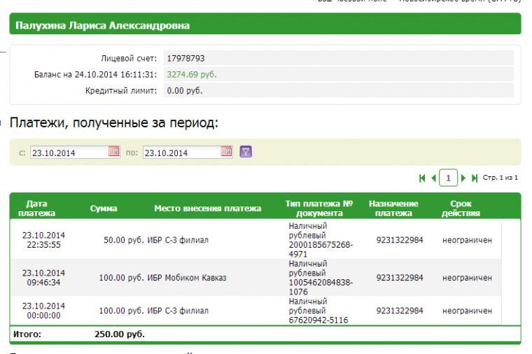 Отчет о поступлении средств, за период с 14.10.14, фото № 25