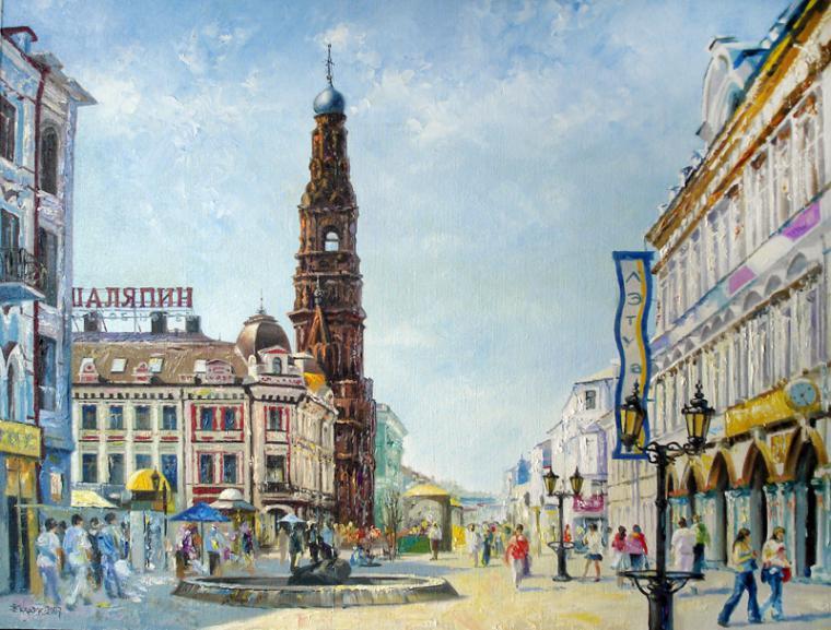 казанский кремль, авторская живопись