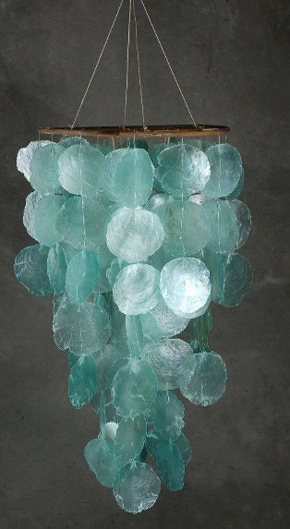 Turquoise Wind Chime ...... My son bought me some purple ones when he went to Savanah, GA