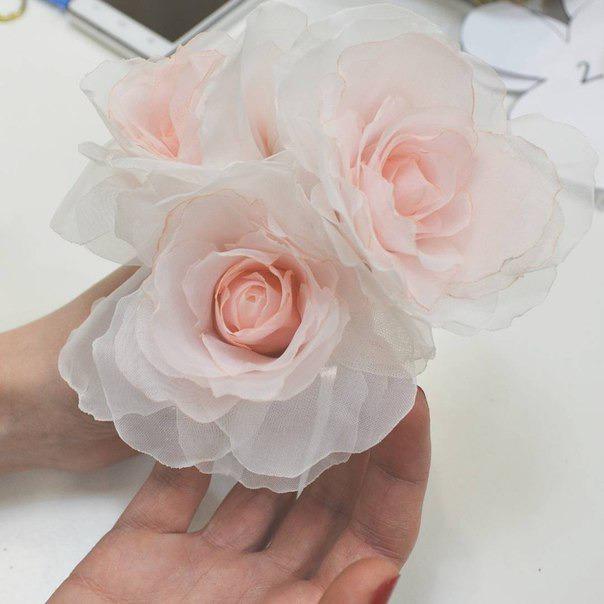 Создание розы из вуали по японской методике., фото № 2