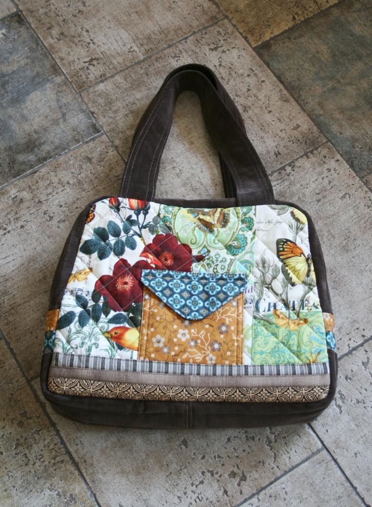 сумка, сумки, цветы, птицы, бабочки