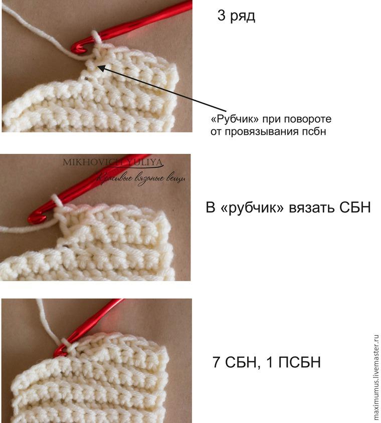 Вязание спицами рубчиками