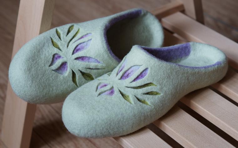 обувь из шерсти