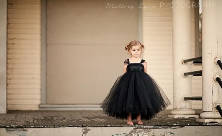Черное платье из фатином фото