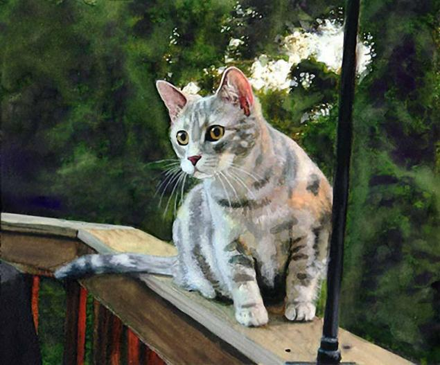 Макияж кошки мастер класс акварель пошагово #4