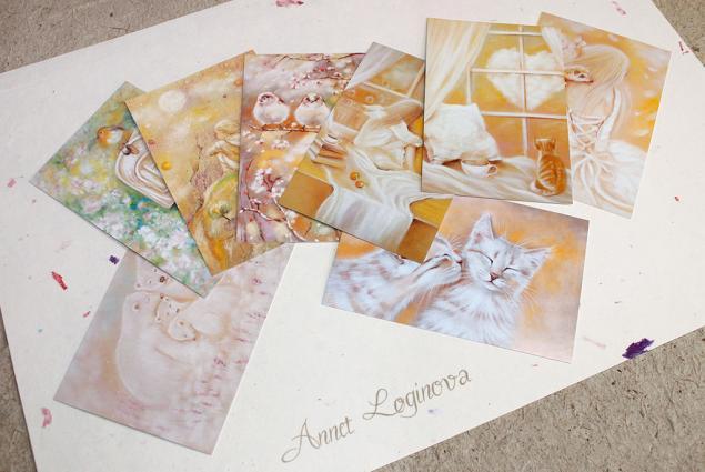 открытки, открытки в подарок, авторские открытки, наборы открыток