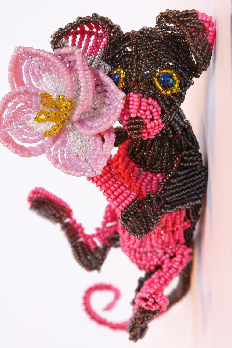 бисероплетение, кошка, сувенир, кошка-матрёшка