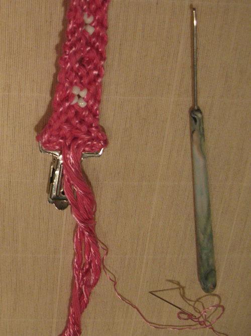 изнаночная сторона плетения