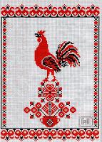 Вышивка славянская птица