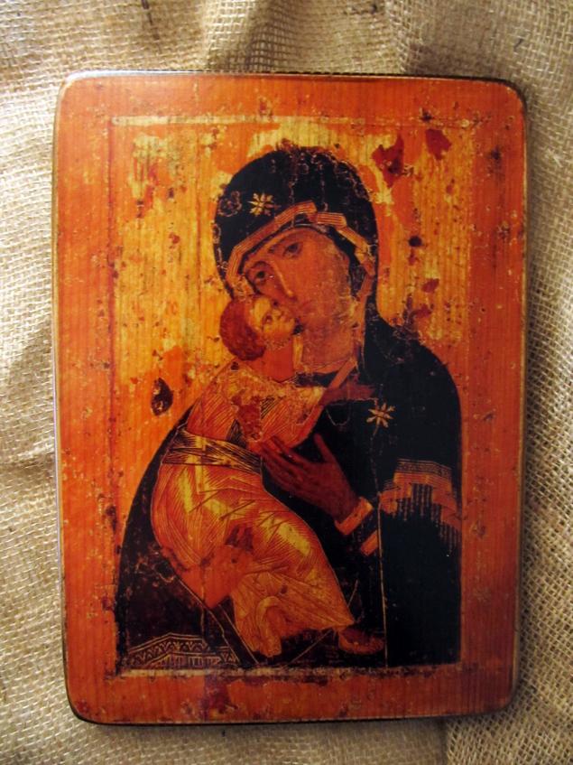 икона, владимирская икона, история иконы, икона на дереве