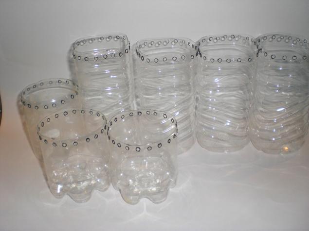 При прокалывании пластика
