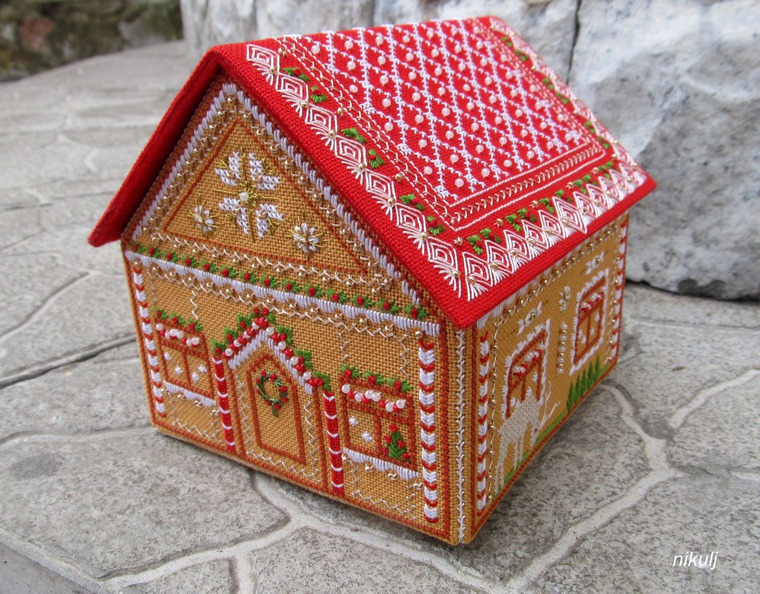 Схемы пряничных домиков вышивка крестом