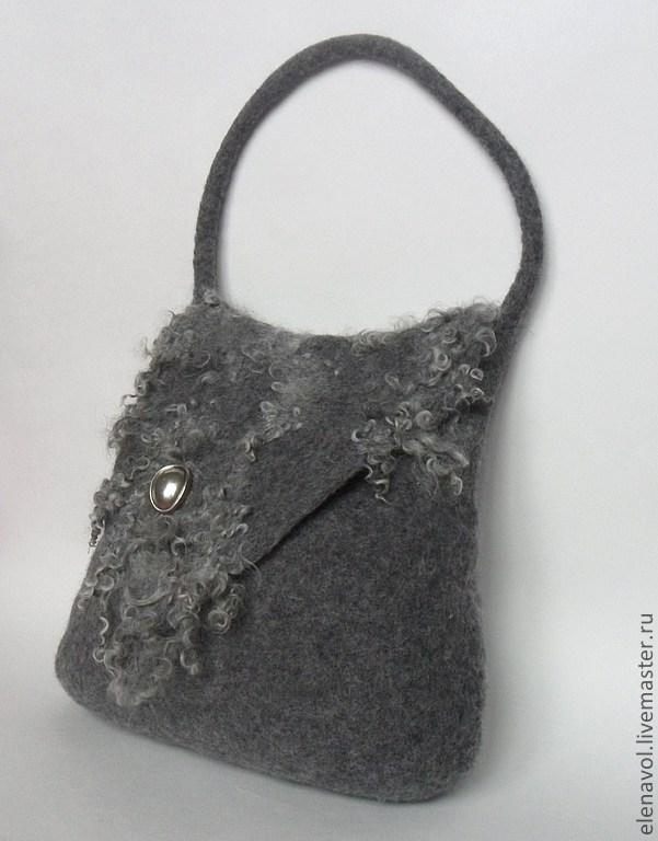 сумка, валяние из шерсти, валяние на шаблоне, сумка ручной работы, мокрое валяние, кудри