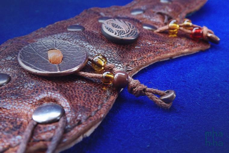 кожаные браслеты, авторские украшения